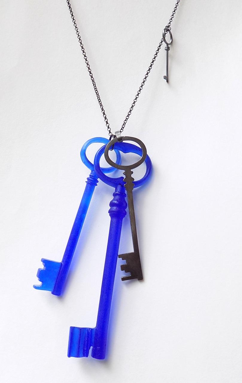 Blue Keys Pendant