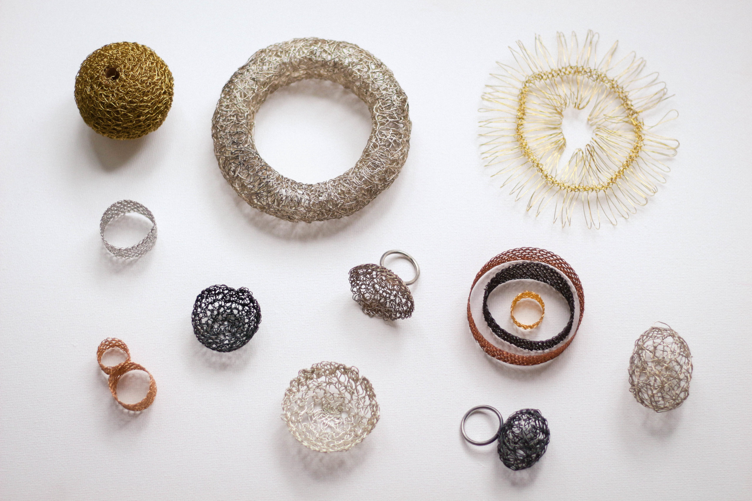 Metallic Weaving and Wire Textile Jewellery