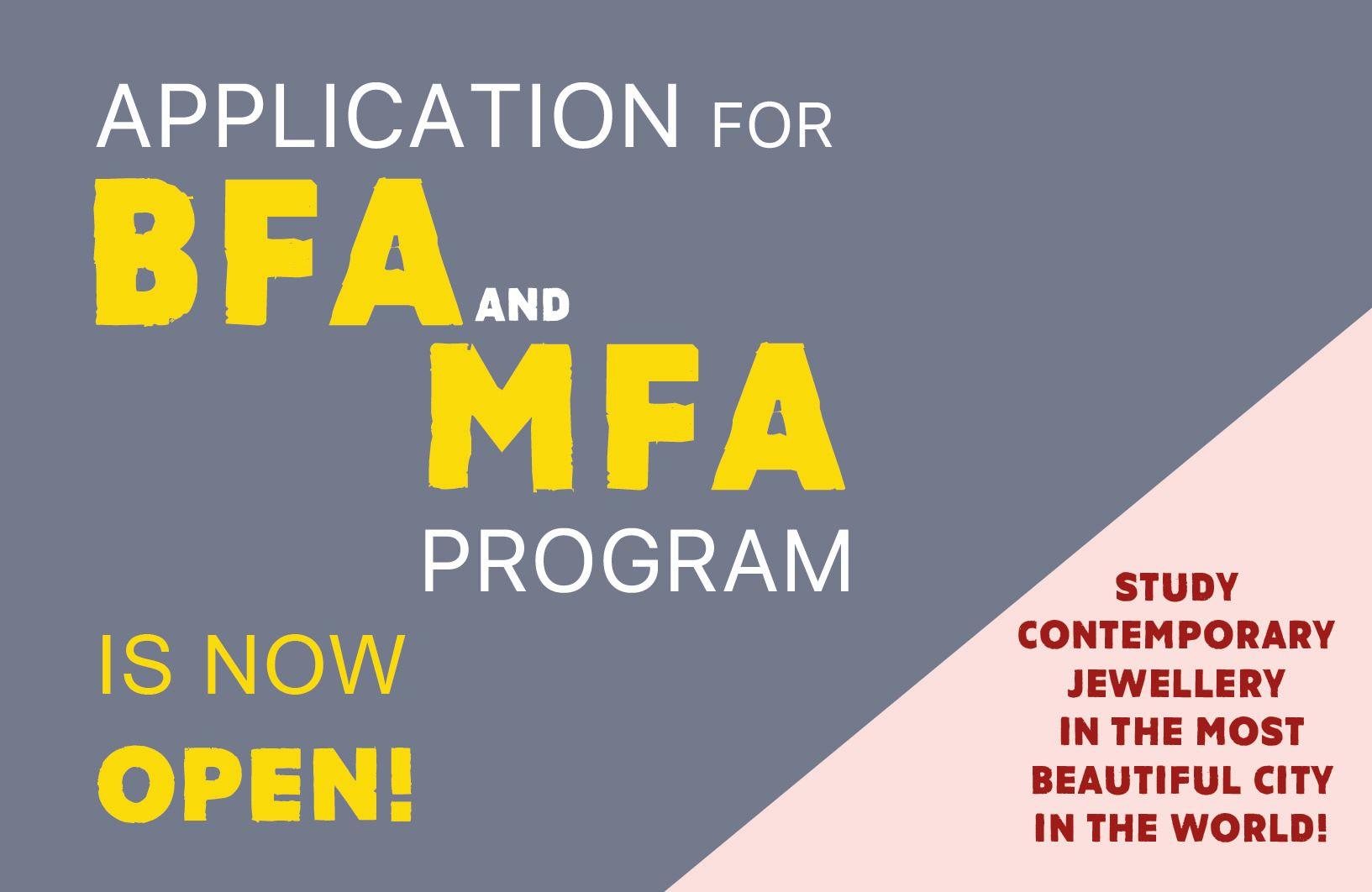 BFA MFA application Alchimia