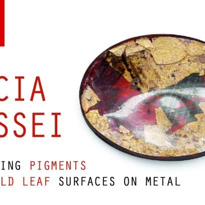 Exploring Pigments Gold Leaf Surface on Metal